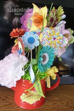4-27 Flowers made with paper crafting