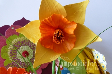 Flowers made with paper crafting 007