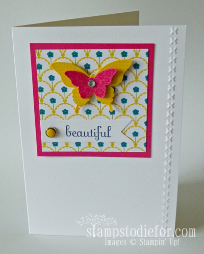 Gingham Garden Patterned Paper Butterflies