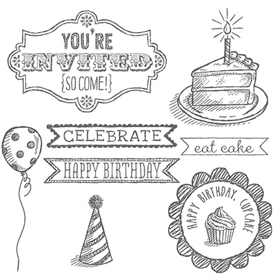 Sketched Birthday Stamp Set Stampin Up