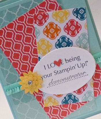 I love being your Stampin Up Demonstrator