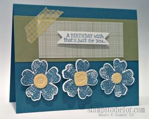 One Sheet Wonder Flower Shop Card 10 Island Indigo (2)