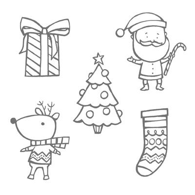 Color Me Christmas Stamp set