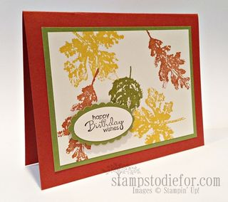 Gently falling stampin up