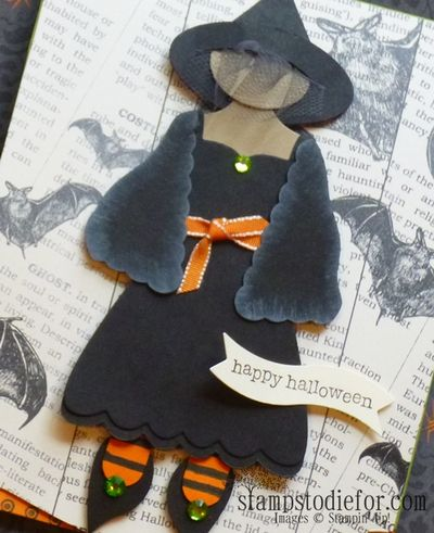 Dress Form Stampin Up Witch tipped