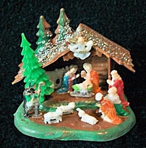 60's Nativity Set Platic