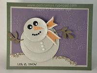 Snowman circle punches stampin up
