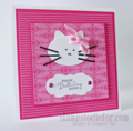 hello kitty punch card