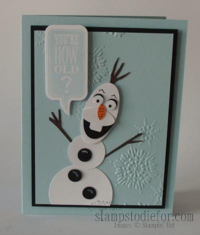 Olaf Frozen Birthday Card