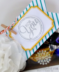 Creped Filter Paper Flowers Tag a Box Gift