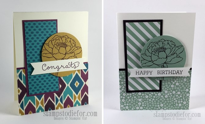Cottage Greetings Congrats Card & Bohemian Paper www.stampstodiefor-horz