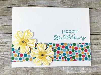 Kitanas Card Flower Shop #stampinup.com www.stampstodiefor.com