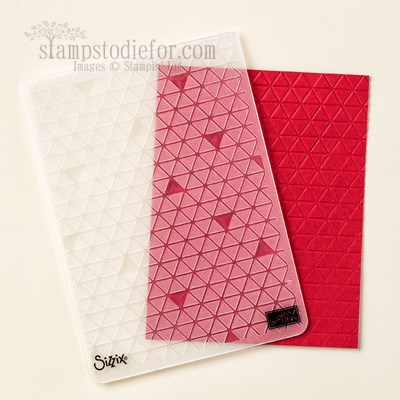Tiny Triangle Embossing Folder #stampinup www.stampstodiefor.com