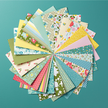 All Abloom designer series paper stack www.stampstodiefor.com #stampinup #patternedpaper
