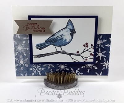 Joyful Season Stamp Set, Happy Birthday Card, www.stampstodiefor.com #stampinup #joyfulseason #birthdaycard