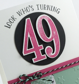 Number of Years Stamp Set Occasions Catalog www.stampinup.com #stampinup #brithdaycard 2