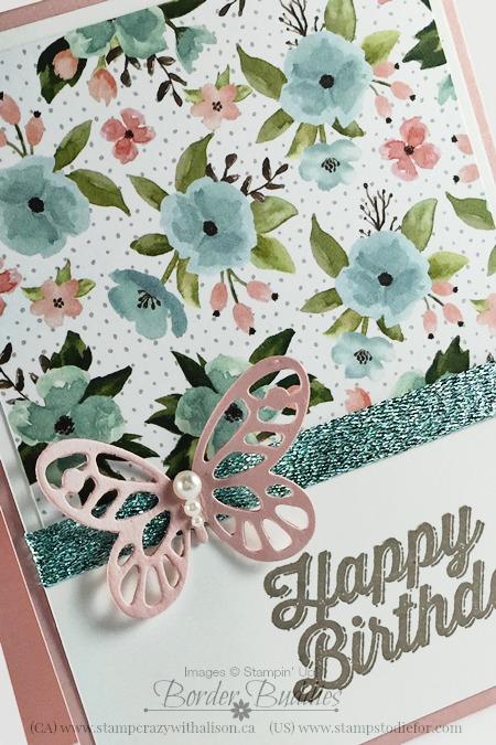 Birthday Bouqet Designer Paper & Bold Butterflies Framelits 2