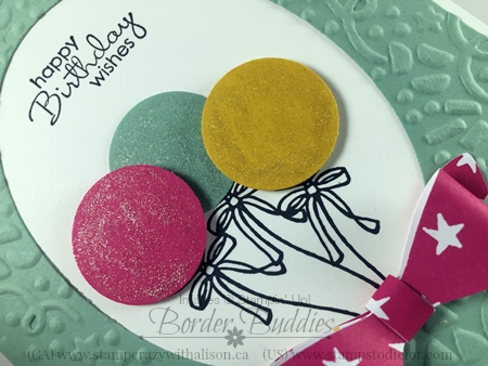 1 Honey Comb Happiness Ballons Saleabration 2016 #stampinup www.stampstodiefor.com 3