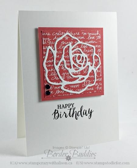 Rose Garden Thinlits Dies, Rose Wonder Stamp Set #stampinup www.stampstodiefor.com