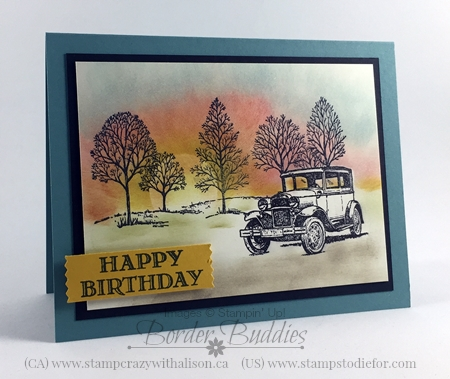 Happy Birthday Card, Guy Greetings stamp set #stampinup www.stampstodiefor.com