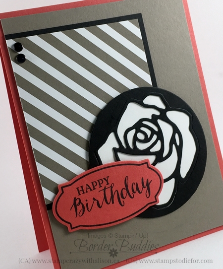 Rose Wonder stamp set and Rose Garden Thinlits Dies #stampinup www.stampstodiefor.com