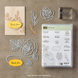 Rose Wonder Photopolymer Bundle Stamp set and Rose Garden Framlits #stampinup www.stampstodiefor.com