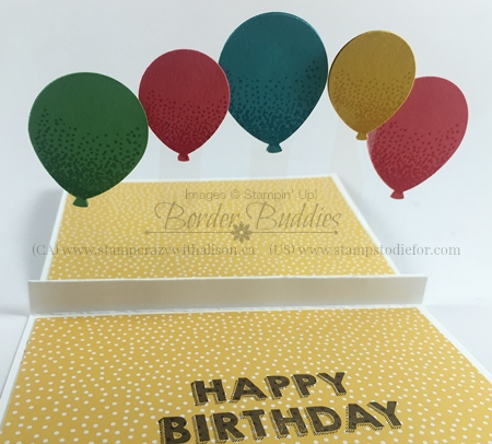 28-Pop Up Balloons Fun Fold Party Wishers #stampinup www.stampstodiefor.com Inside