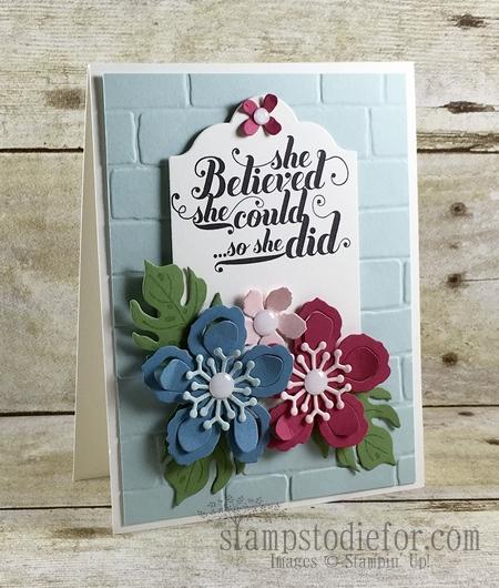 Colour Your World International Blog Hop, Botnaical Blooms Stamp set & Framelits #stampinup www.stampstodiefor.com