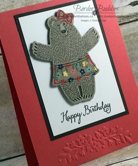 Bear Hugs Stamp Set & Framelits, Affectionately Yours Designer Paper, Floral Affection Embossing Folder #stampinup www.stampstodiefor.com 2