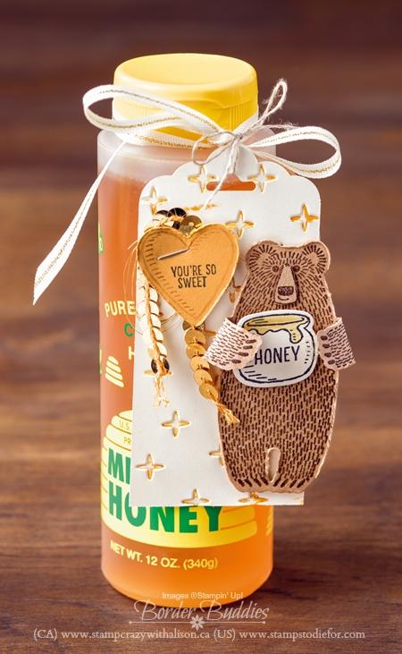 Bear Hugs Stamp Set and Coordinating Framelits Gift of Honey #stampinup