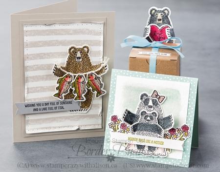 Bear Hugs Stamp Set & Coordinating Framelits #stampinup
