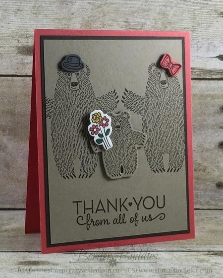 Bear Hugs Stamp Set & One Big Meaning Stamp Set #stampinup www.stampstodiefor.com