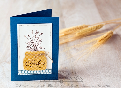 Wetlands Stamp Set and Everyday Jars Framelits Thinking of You Card #stampinup www.stampstodiefor.com
