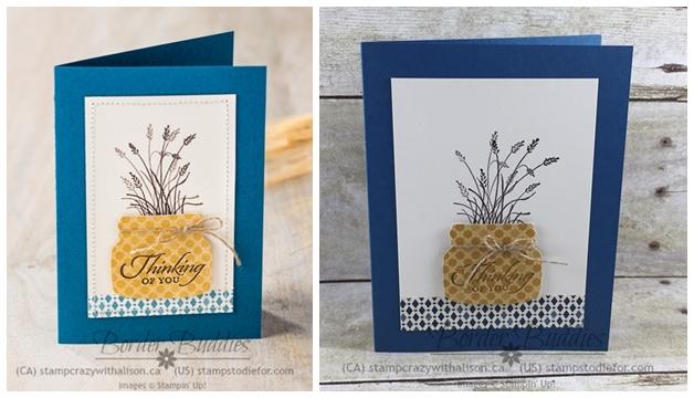 Everyday Jar Framelits and Wetlands Stamp Set Thinking of You Card #stampinup #stampstodiefor www.stampstodiefor-horz