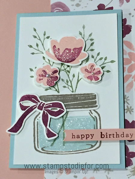 Jar of Love Stamp Set & Blooms and Bliss Designer Series Paper by Stampin' Up! www.stampstodiefor.com