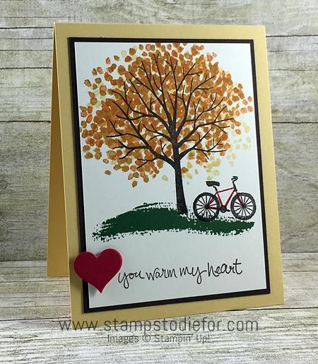 Color Your World Blog Hop - Sheltering Tree stamp set by Stampin Up