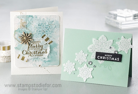 Snow Flurry Punch and Flurry Wishes Stamp Set by Stampin' Up!