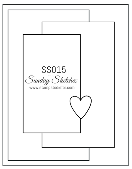 Sunday Sketches SS015 by Stamps to die for