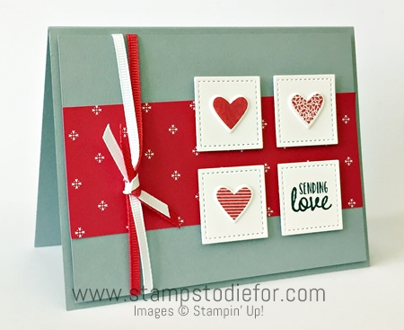 Sunday Sketches SS019 Sealed with Love Stamp Set & Love Notes Framelits Dies by Stampin' Up! www.stampstodiefor.com