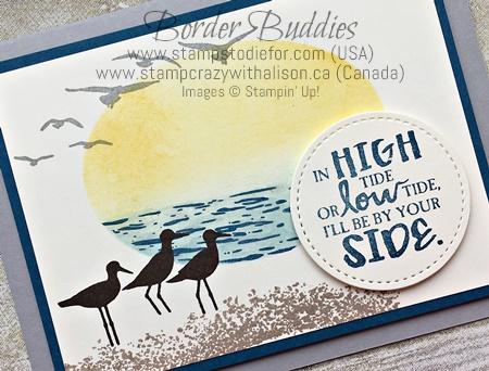 High Tide stamp set by Stampin' Up! Border Buddy PDF Card Tutorial www.stampstodiefor.com c