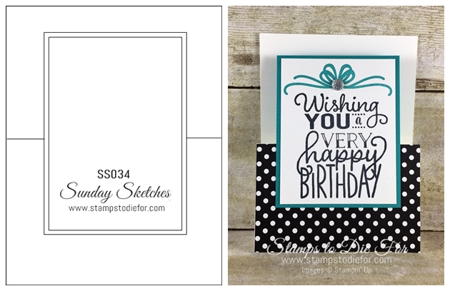 Sunday Sketches SS034 Big on Birthdays stamp set by Stampin' Up! www.stampstodiefor.com (2)