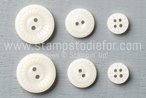 138393 Classy Designer Buttons by Stampin Up