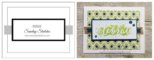 Sunday Sketches Series SS042 Happy Celebrations stamp set by Stampin' Up! www.stampstodiefor-horz