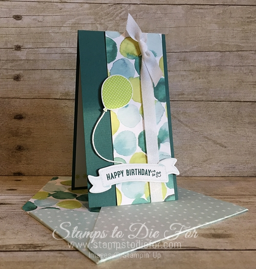 Just in CASE Birthday Banners stamp set by Stampin' Up! Make your own envelope www.stampstodiefor