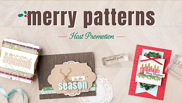 Merry Patterns Stamp Set by Stampin' Up! Host Promtion