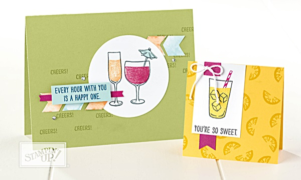 Mixed Drink Stamp Set by Stampin' Up! Two Step Stamping www.stampstodiefor.com a