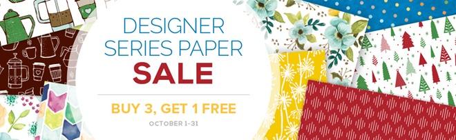 Designer Series Paper Buy 3 get 1 FREE