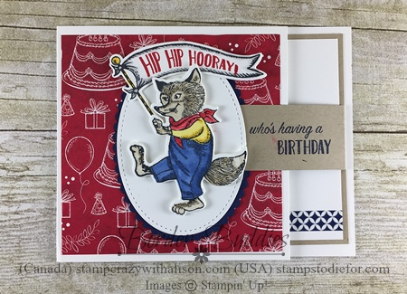 December Border Buddies PDF Free Tutorial Featuring Birthday Memories Suite by Stampin' Up!