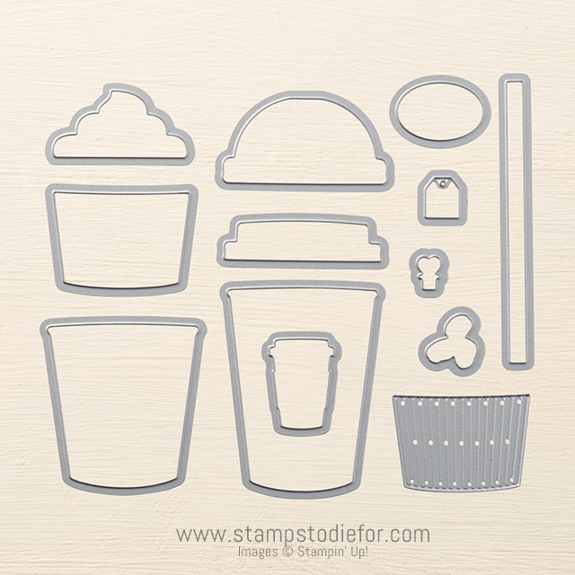 Coffe Cups Framelits Dies by Stampin' Up!
