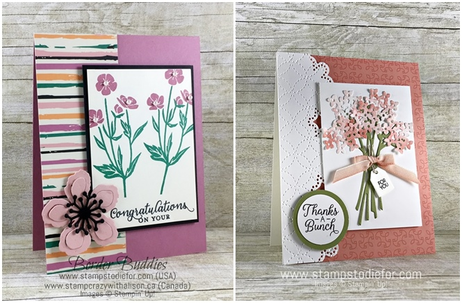 Sunday Sketches SS014 Beautiful Bouquet stamp set by Stampin' Up! www.stampstodiefor.com #cardsketch #cardtemplate #stampinup #beautifulbouquet compare